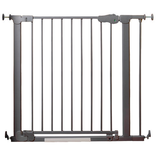 Qdos Auto Close Safegate Pressure Mounted Safety Gate Slate Baby