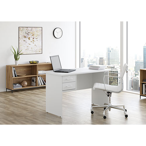 bureau contemporain sidney de status blanc arctique. Black Bedroom Furniture Sets. Home Design Ideas