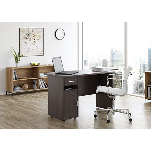Sullivan Contemporary Writing Desk - Rich Walnut - Only at Best Buy