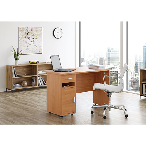 Sullivan Contemporary Writing Desk - Natural Cherry - Only at Best Buy