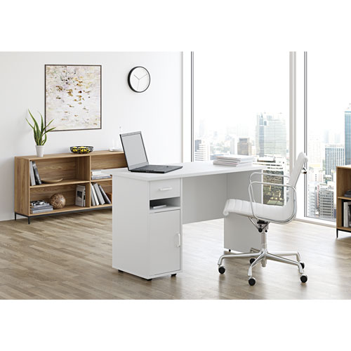 Sullivan Contemporary Writing Desk - Arctic White - Only at Best Buy