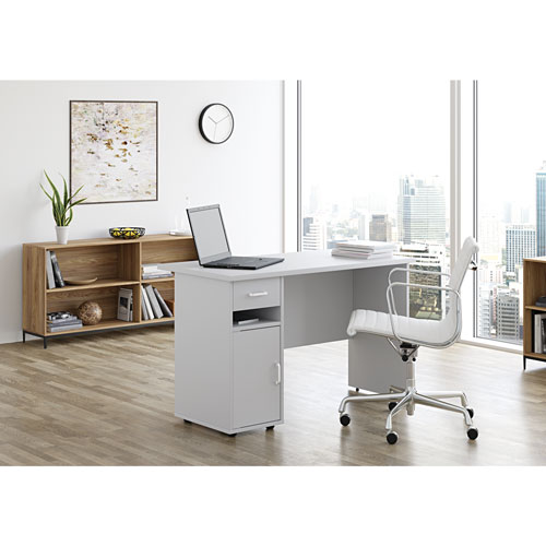 Sullivan Contemporary Writing Desk - Misty Grey - Only at Best Buy