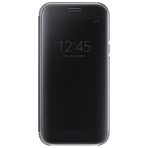 Samsung A5 Clear View Flip Cover Case - Black