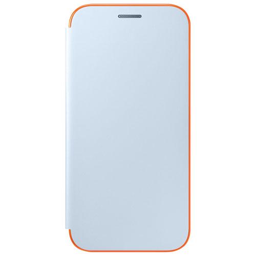 Samsung A5 Neon Flip Cover Smart Case - Blue