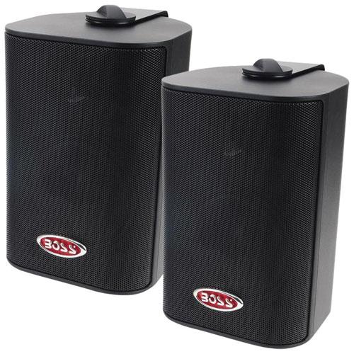 Boss Audio MR4.3B 200-Watt Indoor/Outdoor Weatherproof 3-Way Speaker System - Black - Pair