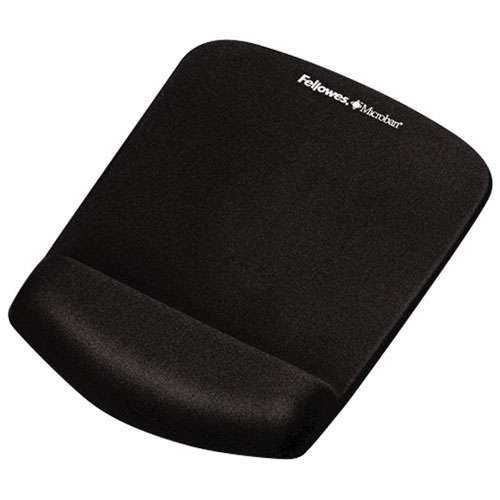 Fellowes PlushTouch Mouse Pad with Wrist Support - Black