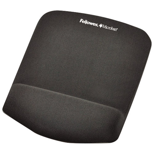 Fellowes PlushTouch Mouse Pad with Wrist Support - Graphite