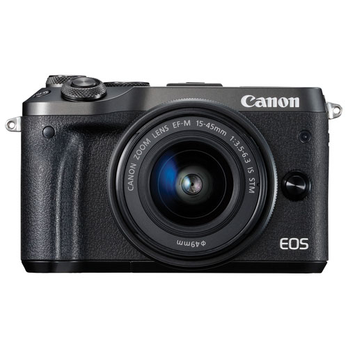 Canon EOS M6 DSLR Camera with 15-45mm f/3.5-6.3 IS STM Lens Kit