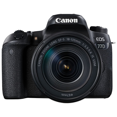 Canon EOS 77D DSLR Camera with 18-135mm f/3.5-5.6 IS USM Lens Kit