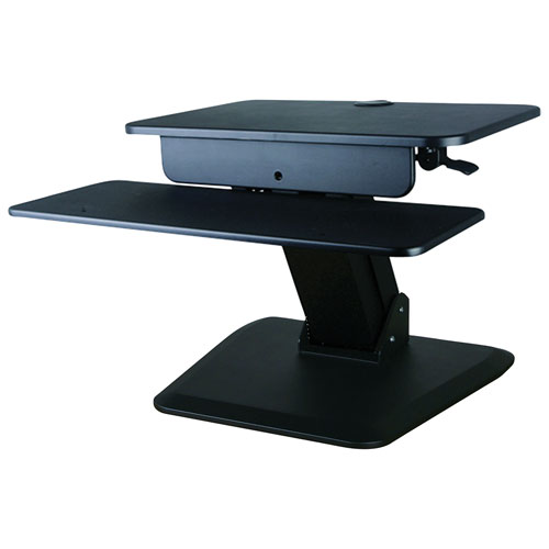 TygerClaw Sit-Sand Desktop Workstation Stand - Black