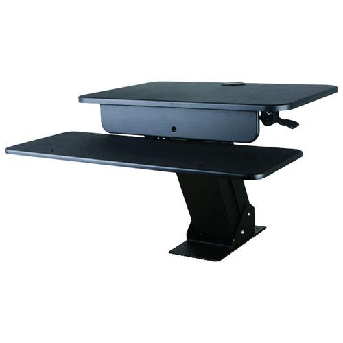 TygerClaw Sit-Sand Desktop Workstation Stand with Desk Mount - Black