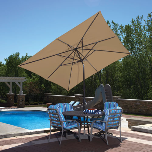 Island Umbrella Caspian Full-Sized 8 ft. Market Patio Umbrella - Stone  Patio Umbrellas - Best Buy Canada & Island Umbrella Caspian Full-Sized 8 ft. Market Patio Umbrella ...