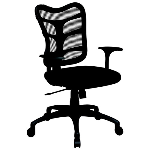Spider Polyester Task Chair BlackGrey Office Chairs Best - Grey office chair