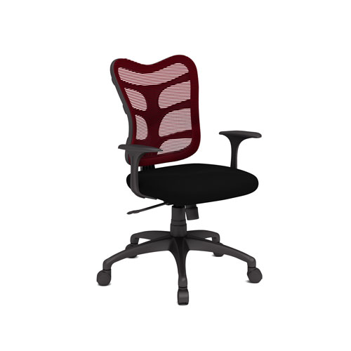Spider Polyester Task Chair BlackRed Office Chairs Best Buy