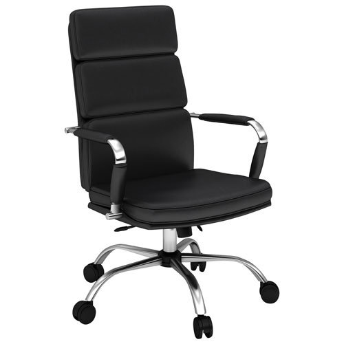 Eleganté Synthetic Leather Manager U0026 Executive Chair   Black : Office Chairs    Best Buy Canada