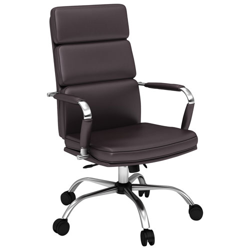 Elegant Synthetic Leather Manager Executive Chair Brown