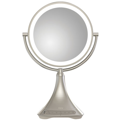 Best Vanity Mirror >> Ihome 9 Vanity Mirror Bluetooth Speaker Silver Nickel