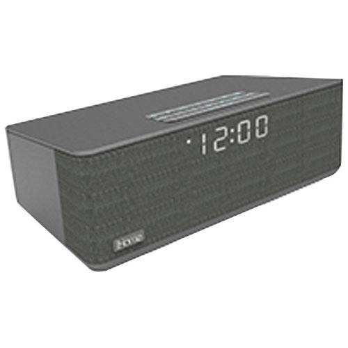 Radio-réveil FM à deux alarmes Bluetooth iBT233 d'iHome - Gris