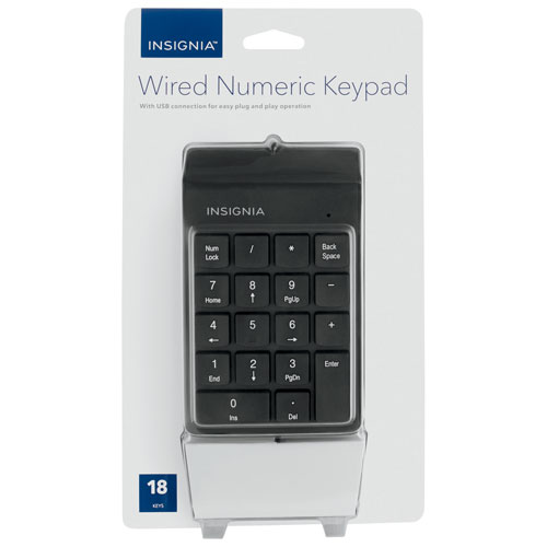 Insignia Wired Numeric Keyboard (NS-PNK8A01-C)