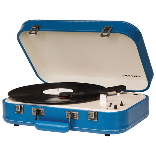 Crosley Coupe Belt Drive Bluetooth Portable Turntable - Blue