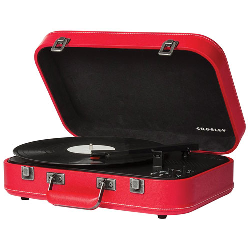Crosley Coupe Belt Drive Bluetooth Portable Turntable - Red