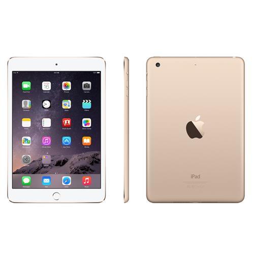 Apple iPad Mini 3 Wifi + Cellular 4G GSM Unlocked Third Gen 64GB White, Refurbished