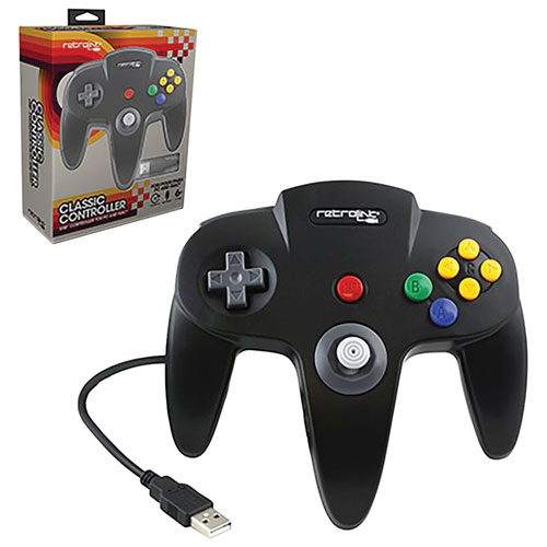 RetroLink USB Classic Controller N64 for PC/Mac - Black