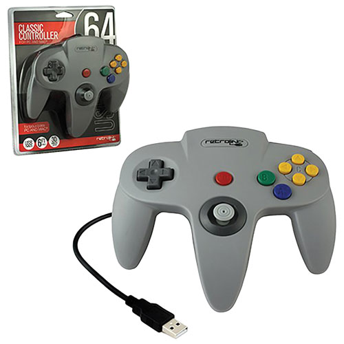 RetroLink USB Classic Controller N64 for PC/Mac - Grey