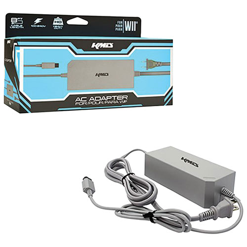 KMD AC Power Adapter for Nintendo Wii - Grey