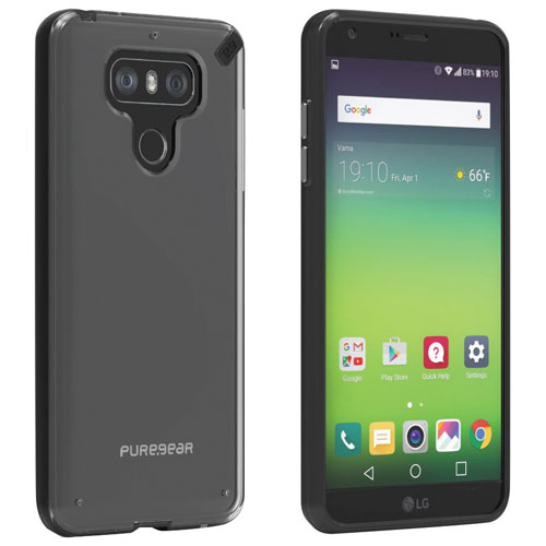 PureGear Slim Pro Fitted Soft Shell Case for LG G6 - Clear/Black