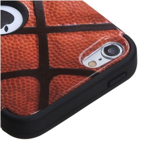 Insten Tuff Basketball Hard Dual Layer Silicone Case For iPod Touch 5th Gen/6th Gen, Brown/Black