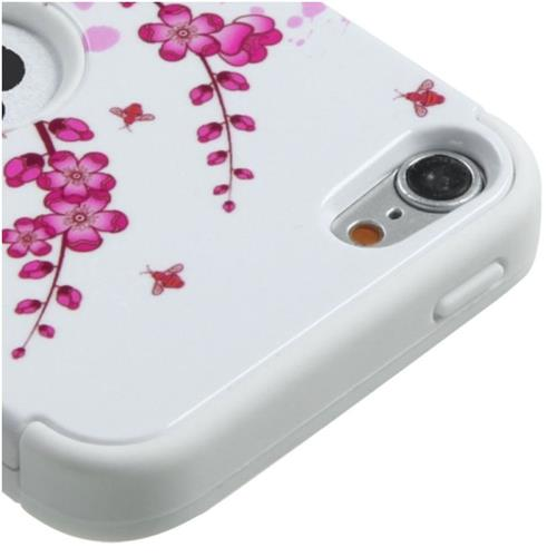 Insten Tuff Spring Flowers Hard Dual Layer Silicone Case For iPod Touch 5th Gen/6th Gen, Pink/White