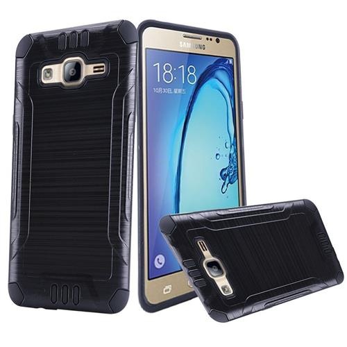 Insten Hard Hybrid Silicone Cover Case For Samsung Galaxy On5, Black