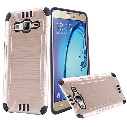 Insten Hard Hybrid Silicone Cover Case For Samsung Galaxy On5, Gold/Black