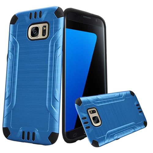 Insten Hard Dual Layer TPU Case For Samsung Galaxy S7, Blue/Black