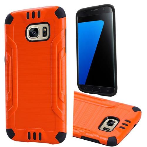 Insten Hard Hybrid TPU Case For Samsung Galaxy S7, Orange
