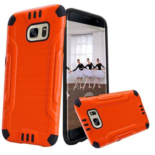 Insten Hard Hybrid TPU Cover Case For Samsung Galaxy S7 Edge, Orange