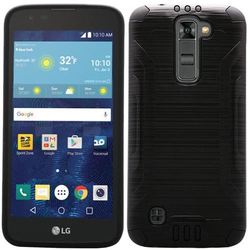 Insten Hard Dual Layer Silicone Case For LG K7, Black