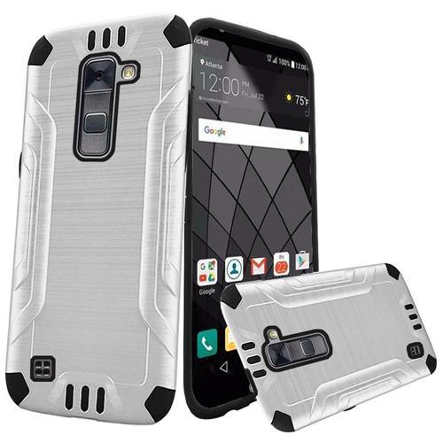 Insten Hard Hybrid Silicone Case For LG Stylo 2 Plus, White/Black