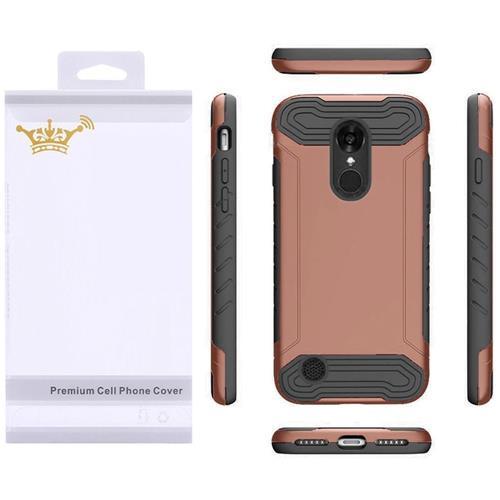 Insten Hard TPU Cover Case For LG Aristo/K8 (2017), Rose Gold/Black