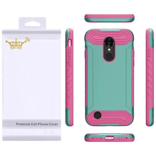Insten Hard TPU Case For LG Aristo/K8 (2017), Teal/Hot Pink
