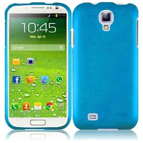 Insten Hard Rubberized Cover Case For Samsung Galaxy S4/S4 (LTE version), Blue