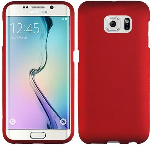 Insten Hard Cover Case For Samsung Galaxy S6 Edge, Red
