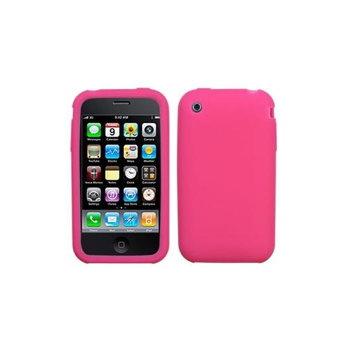 Insten Skin Rubber Case For Apple iPhone 3G/3GS, Pink