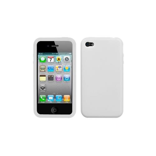 Insten Soft Rubber Cover Case For Apple iPhone 4/4S, White