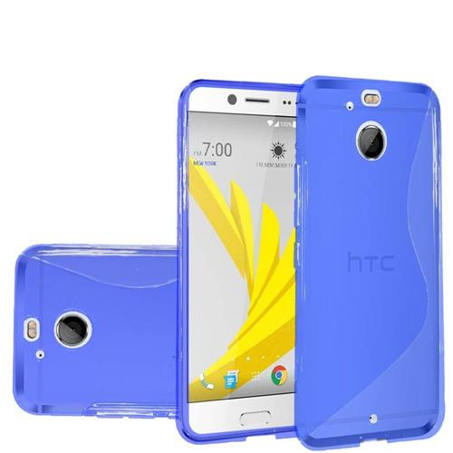 Insten Frosted Rubber Cover Case For HTC 10/Bolt, Blue