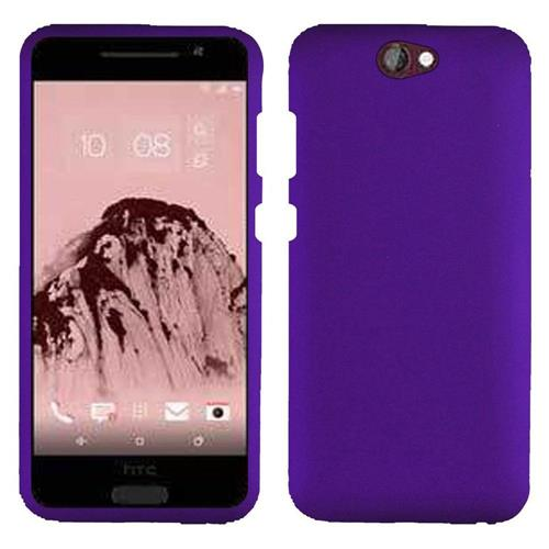 Insten Hard Rubber Coated Cover Case For HTC One A9, Purple