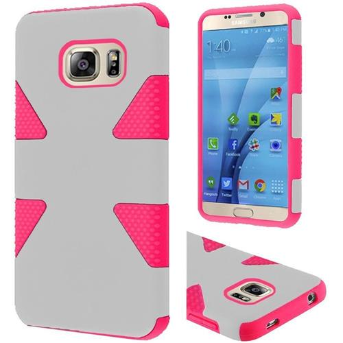 Insten Dynamic Hard Dual Layer Rubber Silicone Case For Samsung Galaxy S7, White/Hot Pink