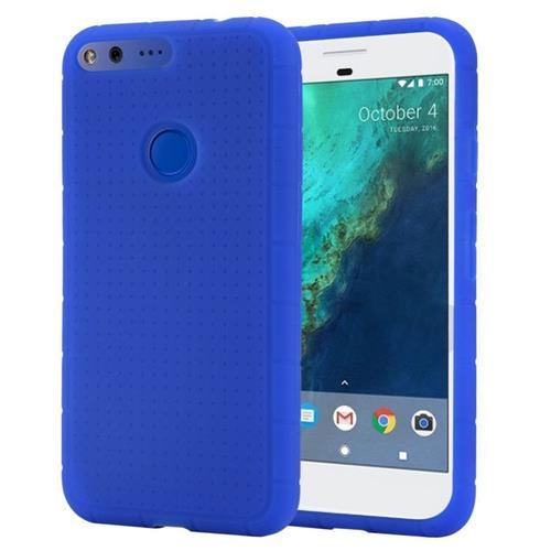 Insten Rugged Gel Rubber Cover Case For Google Pixel, Blue