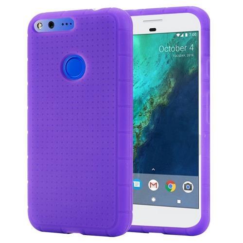 Insten Rugged Skin Rubber Case For Google Pixel, Purple